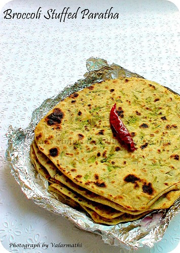 Broccoli Stuffed Paratha