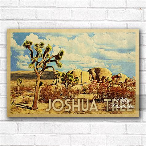 Joshua Tree Vintage Travel Poster   Nifty Printables