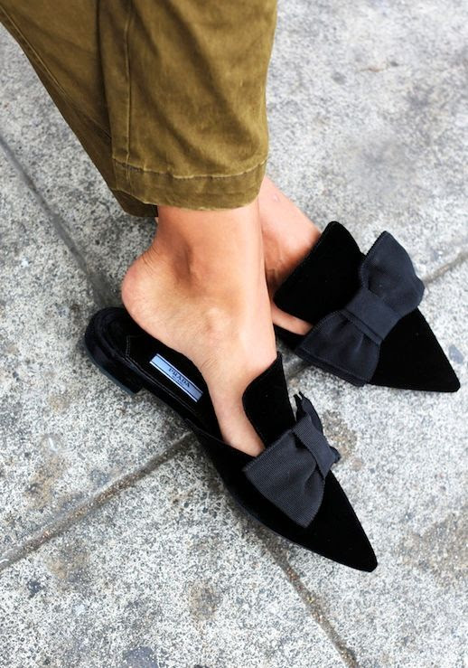 Discount Release Dates Online Sale Online Prada Pointed-Toe Ribbon Mules Classic Sale Online Cheap Sale Pick A Best Cheap Sale Pay With Paypal hVVSBuGq6