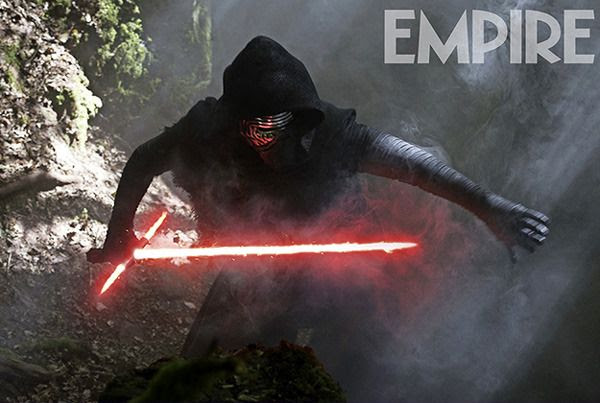 Kylo Ren (Adam Driver) is ready for combat in STAR WARS: THE FORCE AWAKENS.