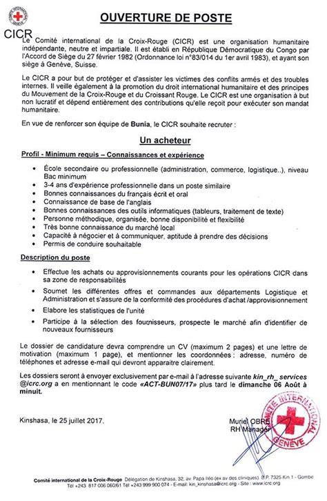 lettre de motivation croix rouge laboite cvfr
