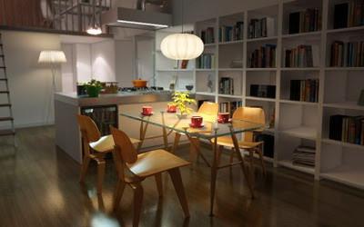 Free Home Interior Design on Free  Material Library  3dmodelfree  Interior Scene Design  Modern