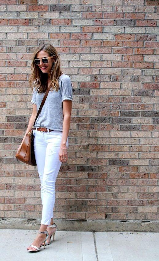 28 Le Fashion Blog 30 Fresh Ways To Wear White Jeans Grey Tee Crossbody Silver Metallic Via See Anna Jane photo 28-Le-Fashion-Blog-30-Fresh-Ways-To-Wear-White-Jeans-Grey-Tee-Crossbody-Silver-Metallic-Via-See-Anna-Jane.jpg