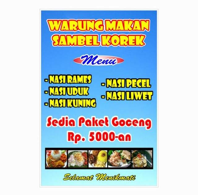 Spanduk Harga Makanan - desain banner kekinian
