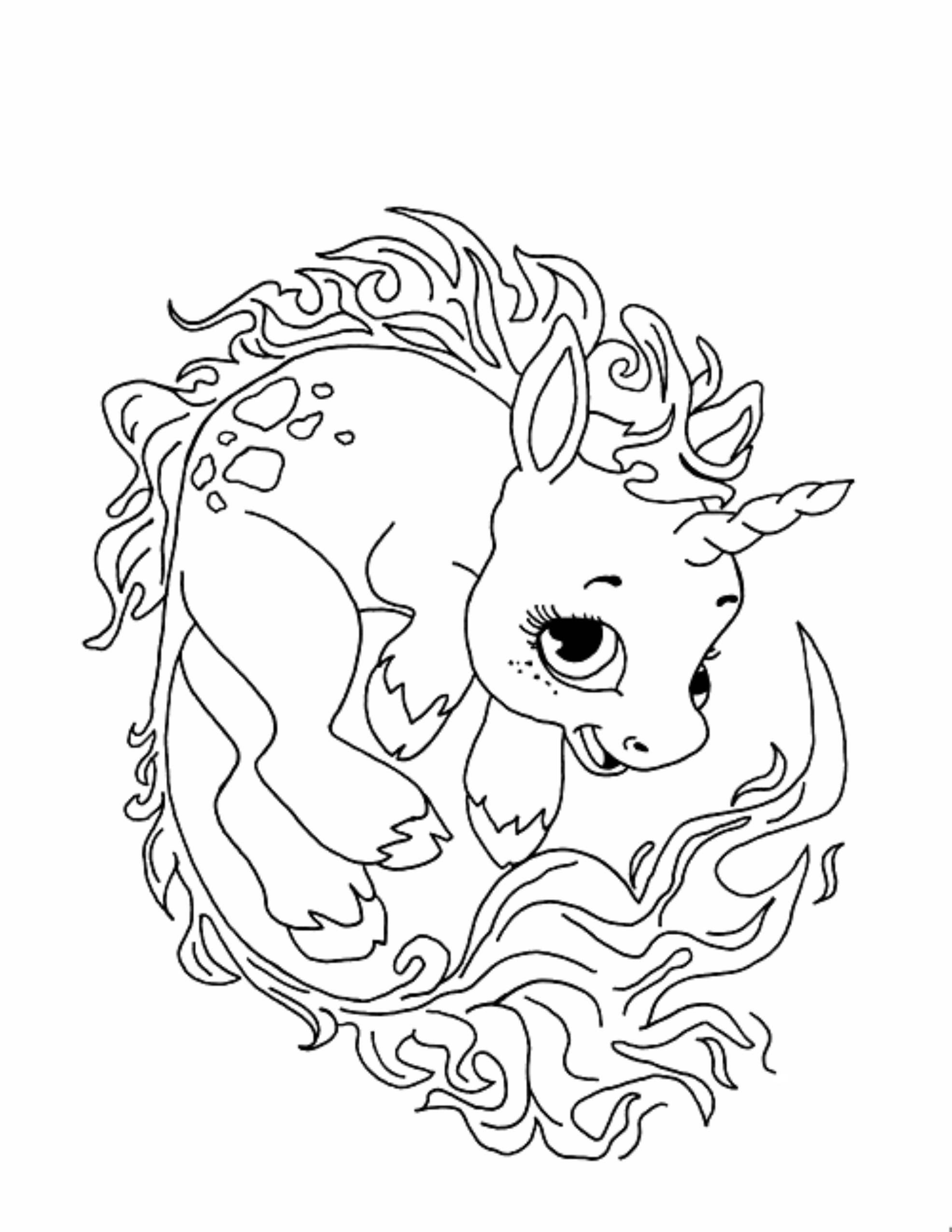 Coloring Pages Of Cute Unicorns at GetColorings.com | Free ...