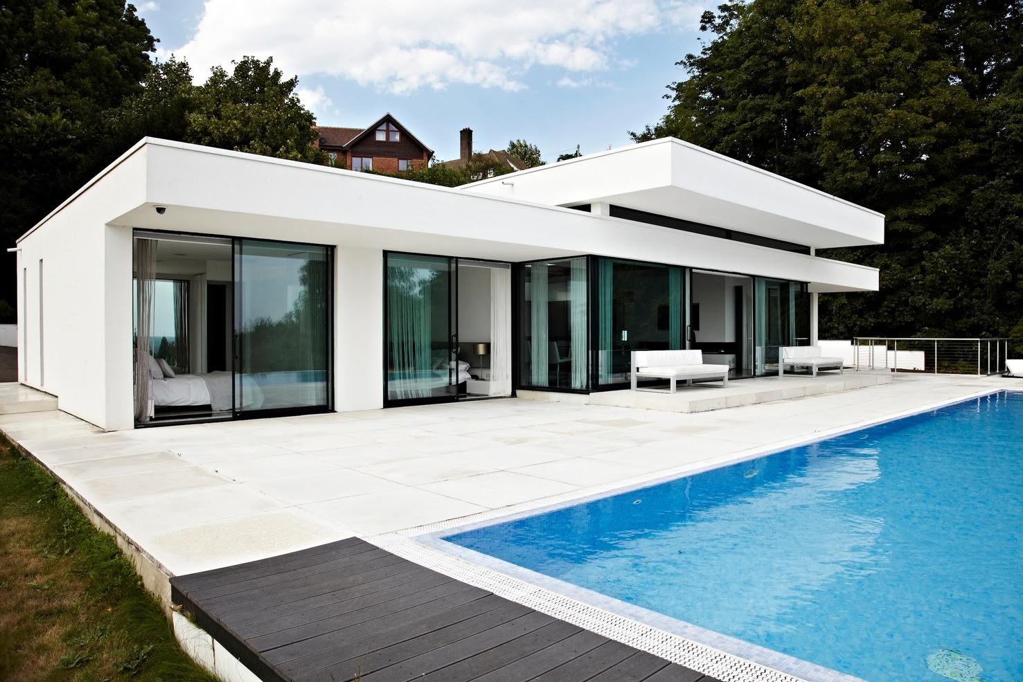 glass walls rear  of home  Interior Design  Ideas