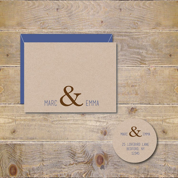 Ampersand Wedding Thank You Cards Ampersand Bridal Shower Thank You