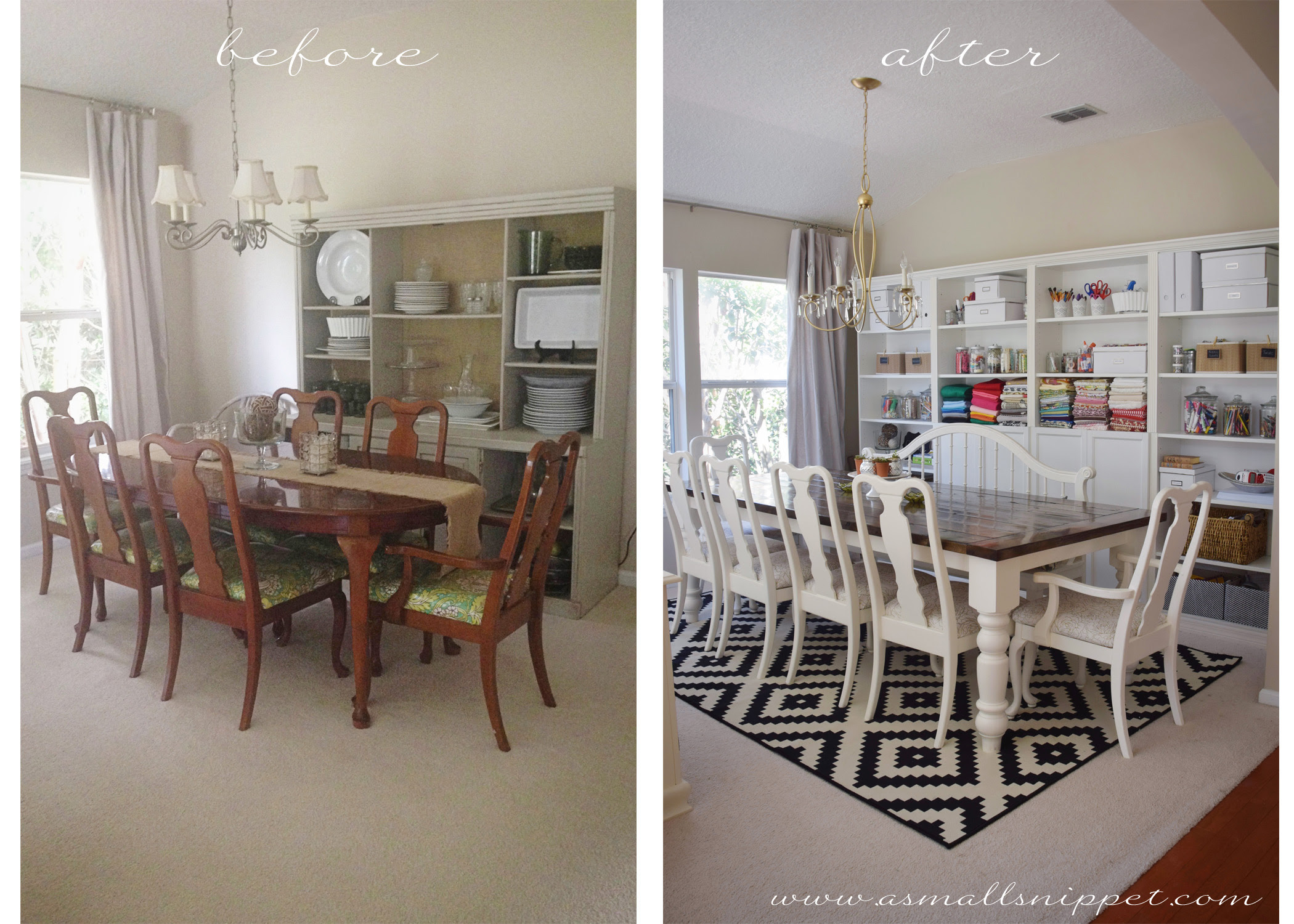 Dining Room Makeover Featuring Ikea Faux Built Ins A Small Snippet