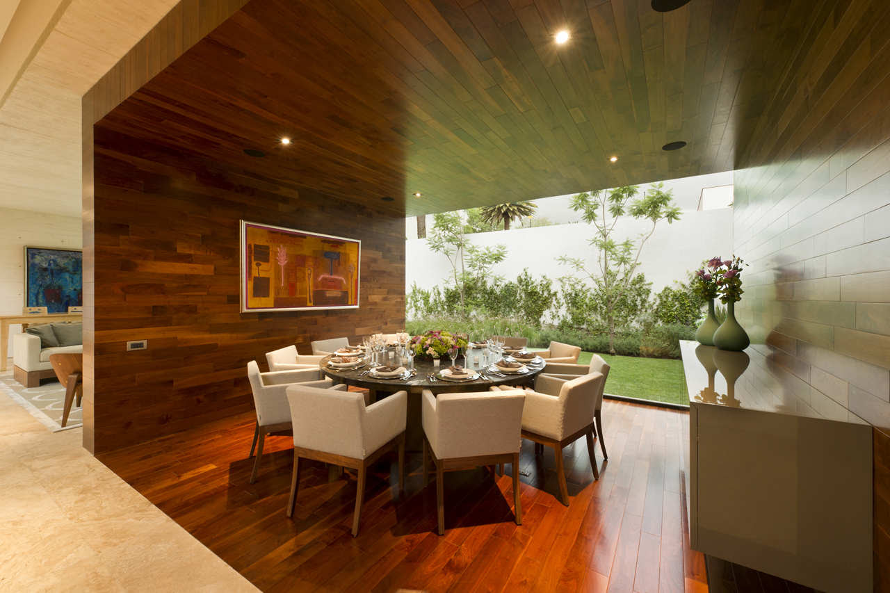 Tips Ideas Cozy Dining Room With Wooden Walls And Floor Hardwood