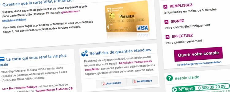 Credit bank personnel: Contrat carte visa premier