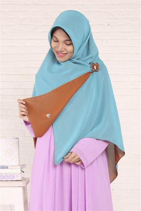 khimar perdana segi empat tosca jingga hijab alila