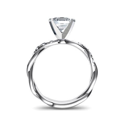 Twist Princess Cut Diamond Engagement Ring Natalie