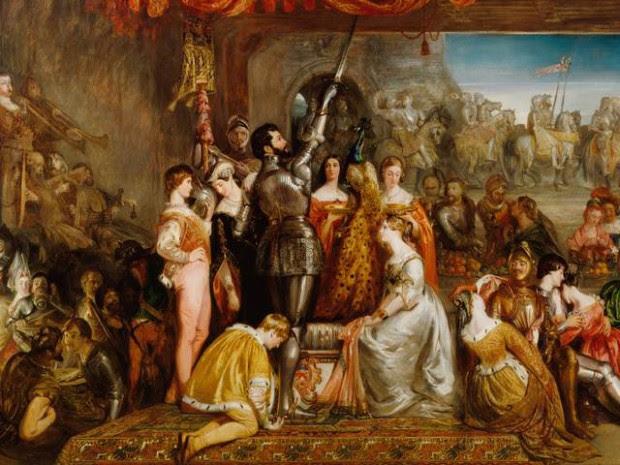 Voto de Caballería de las Damas y el Pavón. Por Daniel Maclise, 1835.