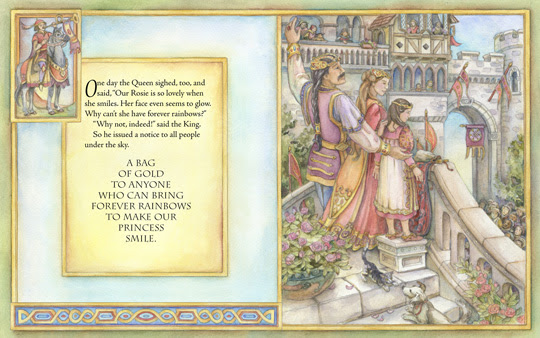 "sample spread from the book ""Princess Rosie's Rainbows"", by Bette Killion and Kim Jacobs"