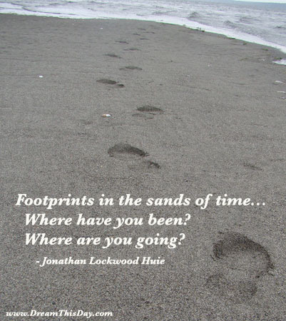 Daily Inspiration Daily Quotes Footprints