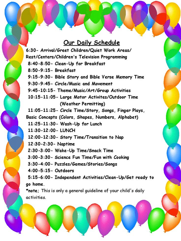 1000+ ideas about Home Daycare Schedule on Pinterest | Daycare ...