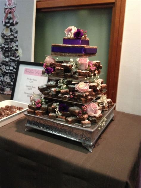 Brownie Stack instead of Wedding Cake. (its pretty besides