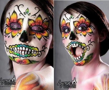 Halloween Body Painting Ideas
