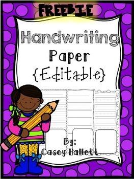 Writing Paper Freebie {Editable} by Casey Hallett | Teachers Pay ...