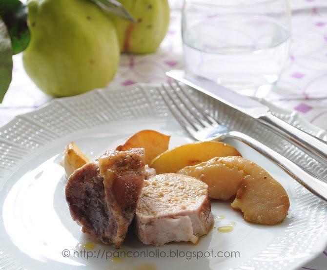 filetto di maiale con le mele cotogne