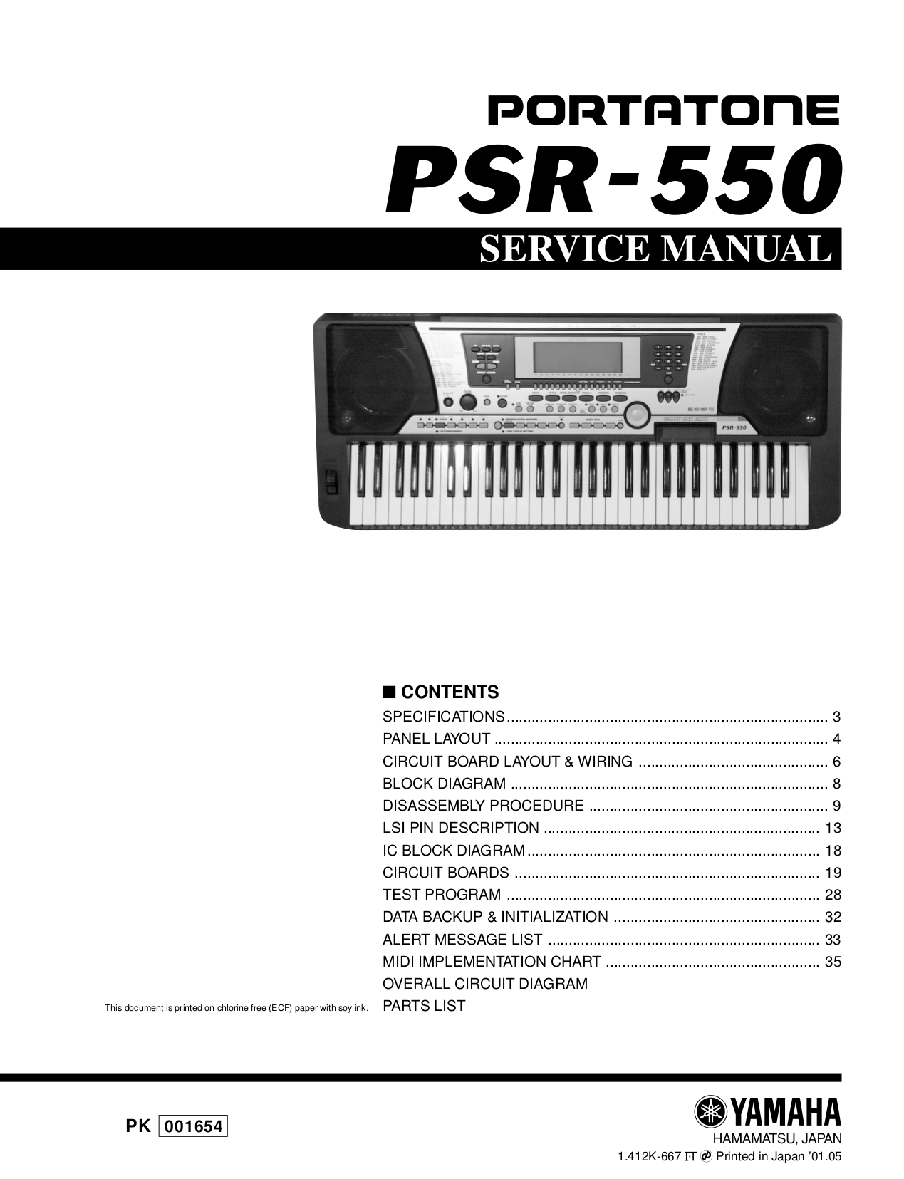 Yamaha Keyboard Wiring Diagram