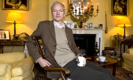 Julian Assange at Ellingham Hall, Norfolk, Britain - 24 Dec 2010