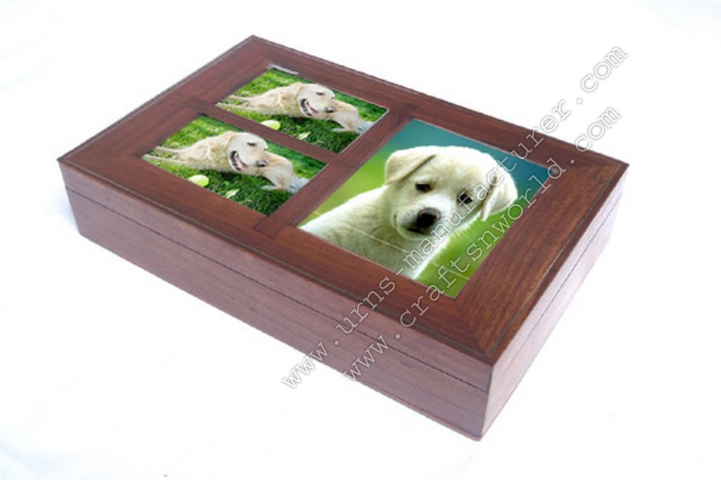 Three Photo Frame Cremation Pet Urns