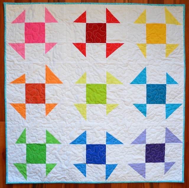 Liberated (emergency) Baby Quilt before washing