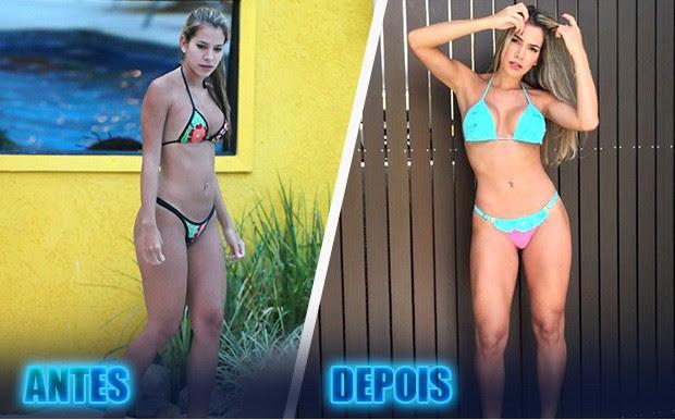 A ex-BBB Adriana participou da 11ª edição e hoje apresenta um corpo mais definido (Foto: BBB/ TV Globo)