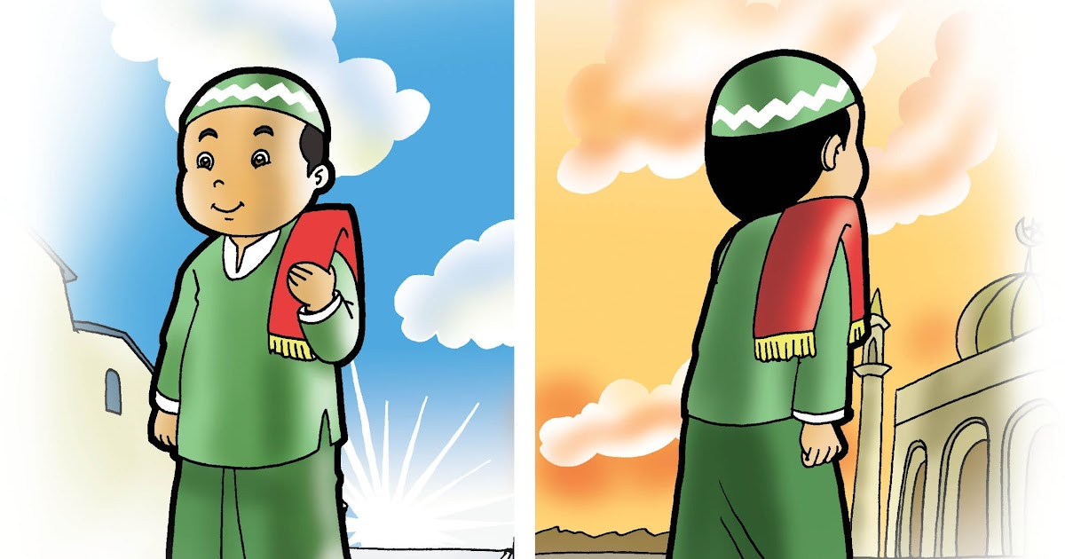 Gambar Animasi Anak Muslim Pergi Sholat Kartun Anak Pergi Ke Masjid Nusagates