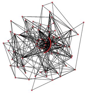 Metabolic network showing the links between en...