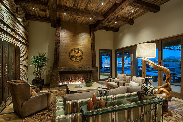 Rustic Contemporary Ranch by Red Rock Contractors