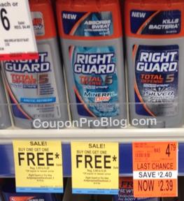 Right Guard deodorant walgreens
