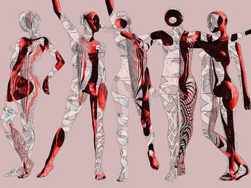 躍動感の表現 旬なデジタル版画に集合