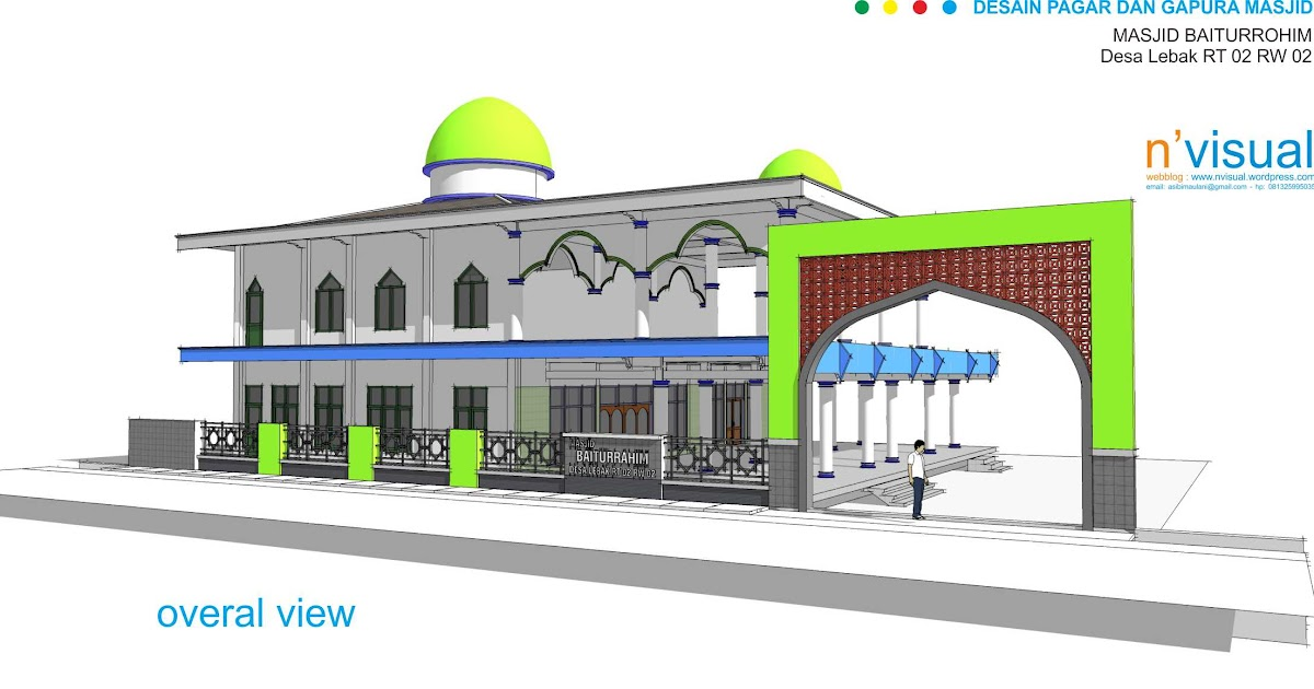Gambar Desain Pagar Masjid - Rumah Sel