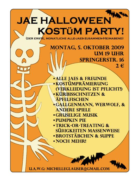 Halloween Kostüm Party 2009