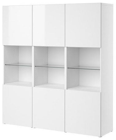 BESTÅ Storage combination with doors - modern - storage units and ...