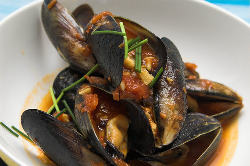 A stew of mussels
