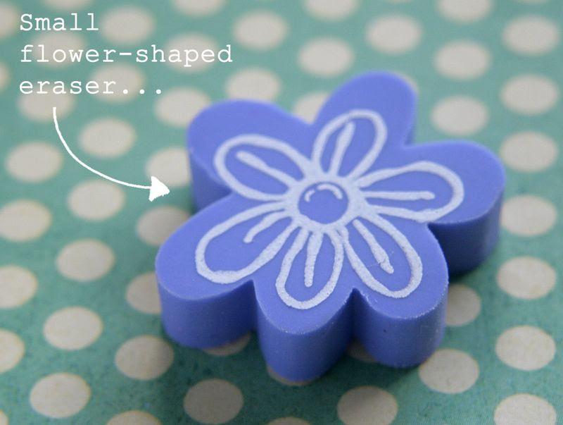 Eraser stamping - flower eraser