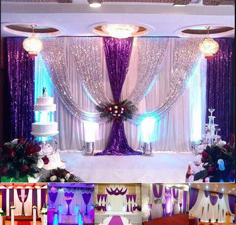 xft wedding backdrop curtain purple decor sparkly