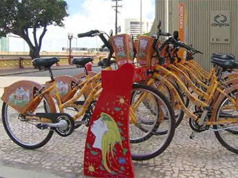 Estações do Porto Leve estão integradas ao Bike PE (Foto: Reprodução / TV Globo)