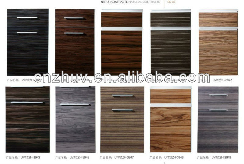 Wood Grain Melamine Particleboard Kitchen Cabinet Doors ...