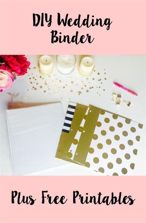 DIY Wedding Binder   Free Printables   CoCo   Nicole