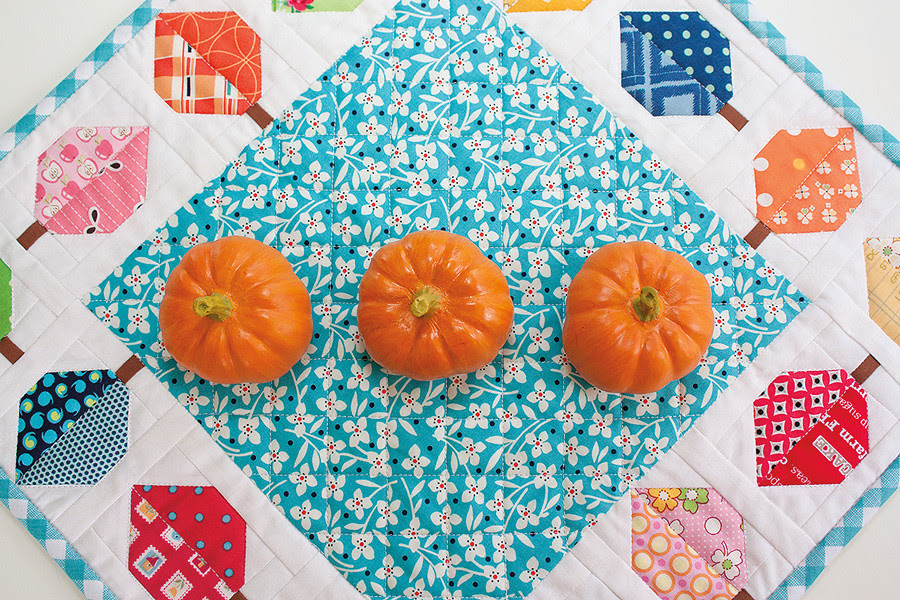 Fall Leaves Table Topper Quilty Fun Bee in my Bonnet