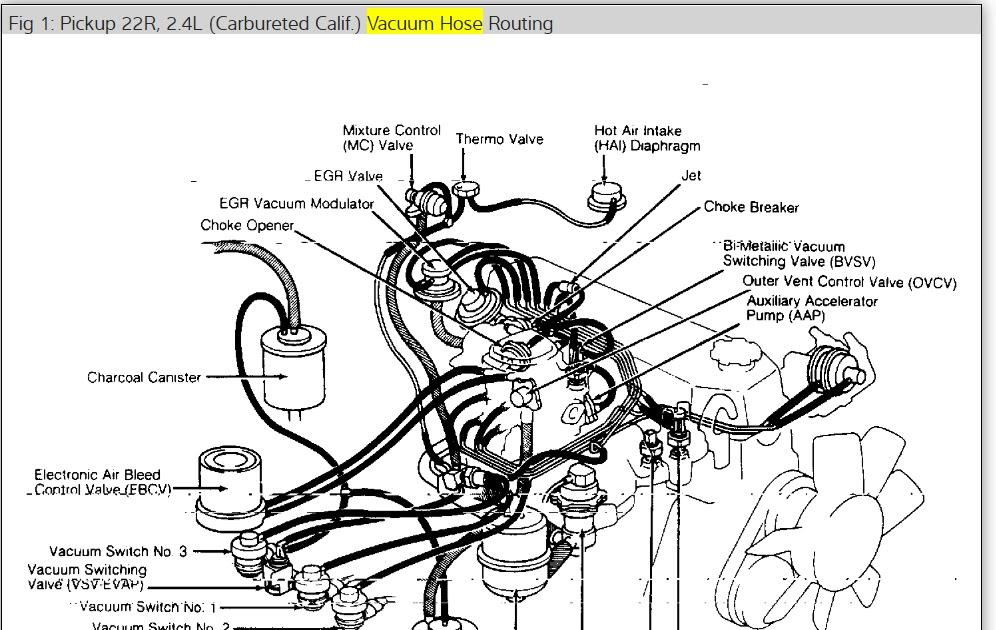 32 22r Carburetor Vacuum Diagram