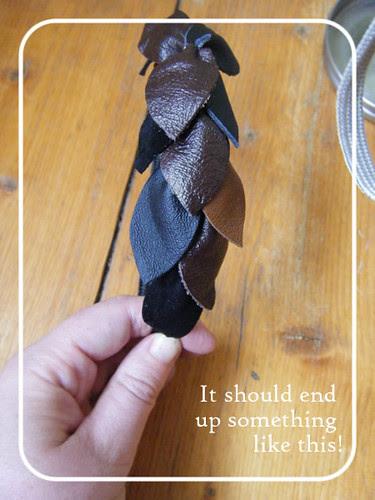 Scrappy leather headband 10