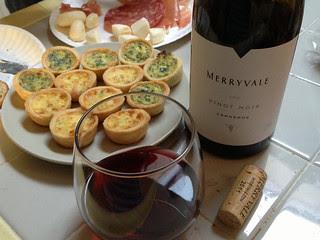 Merryvale Pinot Noir 2011 Carneros -  Pairing Appetizers