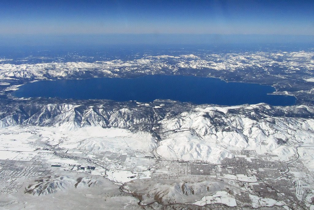 Lake Tahoe seen from above