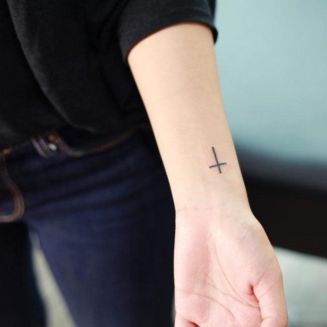 50 Unique Small Cross Tattoo Designs Simple And Lovely Yet Meaningful