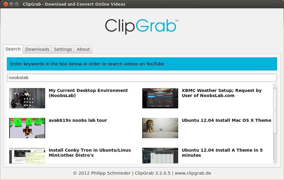 Ubuntu clipgrab